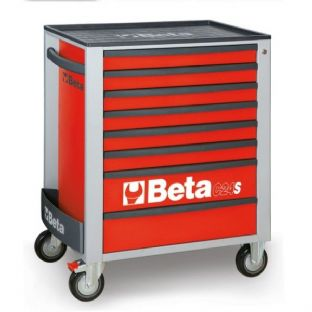 Beta C24S/8-R Mobile Roller Cab With 8 Drawers (Red)